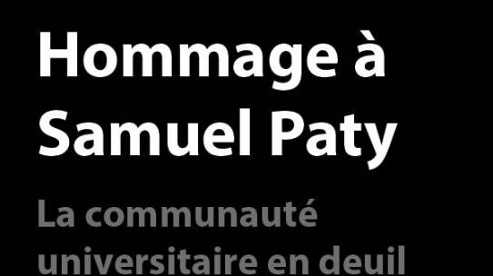 Hommage à Samuel Paty – Discours du Directeur de l'IUT
